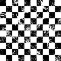 Seamless vector pattern. Creative geometric checkered black and white background with squares. Royalty Free Stock Photo