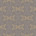 Seamless vector pattern decorative overlapping shapes organic brown colors texture web print spring fashion fabric textile Royalty Free Stock Image