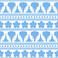 Seamless vector pattern with elephants in oriental style