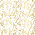 Seamless Vector Pattern of Faux Gold Foil Christmas Holiday Florals Royalty Free Stock Photo