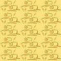 Seamless vector pattern with field and ears Royalty Free Stock Photo