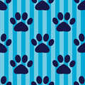 Seamless vector pattern with footprints