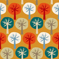 Seamless vector pattern of four seasons of the year summer autumn winter spring Stock Image