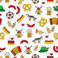 Seamless vector pattern of the germanic icons on a white background wrapping paper Stock Photo