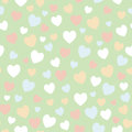 Seamless vector pattern with hearts Royalty Free Stock Photo