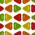 Seamless vector pattern made up of geometric shapes clay.