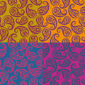 Seamless vector pattern - paisley Royalty Free Stock Photo