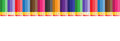 Seamless vector pattern of pencils with eraser
