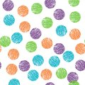 Seamless vector pattern. Polka dot . Dotted background with circles, dots, rounds