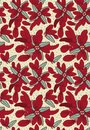 seamless vector pattern with red feathers arranged into floral poinsettia shapes