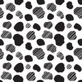 Seamless vector pattern with spotted cow texture Royalty Free Stock Photo