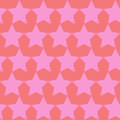 Seamless vector pattern with stars and hearts. Royalty Free Stock Photo