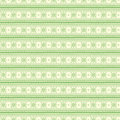 Seamless vector pattern. Symmetrical geometric background with green lines on the white backdrop. Decorative ornament Royalty Free Stock Photo