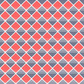 Seamless vector pattern. Symmetrical geometric background with red and blue lined rhombus. Royalty Free Stock Photo
