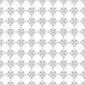 Seamless vector pattern. Symmetrical geometric black and white background with rhombus. Decorative repeating ornament Royalty Free Stock Photo