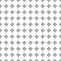 Seamless vector pattern. Symmetrical geometric black and white background with rhombus and lines. Decorative repeating ornament Royalty Free Stock Photo