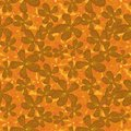 Seamless vector pattern with textured orchid flowers in golden yellows and oranges