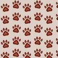 Seamless vector pattern with traces of dogs on background. Cute endless template for 2018 year.