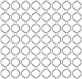 Seamless vector pattern twisted steel rings like chain mail Royalty Free Stock Photo