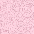 Seamless vector pattern with vintage roses retro background Royalty Free Stock Image
