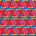 Seamless vector pattern with watermelon Royalty Free Stock Photo