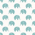 Seamless vector print with cute little elephants background eps pattern Royalty Free Stock Images