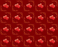 Seamless vector red texture with hearts Stock Image
