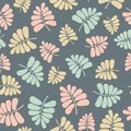 Seamless vector repeat pattern of pastel palm leaves. Sweet surface pattern design.
