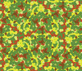 Seamless vector square camouflage series in the green scheme. Royalty Free Stock Photo