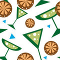 Seamless vector Summer pattern Royalty Free Stock Photography