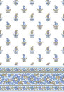 Seamless vector textile design border Royalty Free Stock Photos