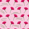 Seamless vector texture with abstract carnations