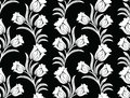 Seamless vector tulip floral pattern