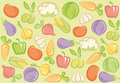 Seamless vegetable background Stock Photography