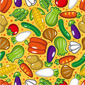 Seamless vegetable pattern Royalty Free Stock Photography
