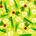 Seamless vegetables garden radish illustration
