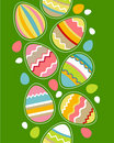 Seamless vertical border with easter eggs Stock Images