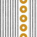 Seamless Vertical Stripe and Circle Pattern