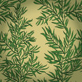 Seamless vintage background with green rosemary hand drawn eps Stock Photography