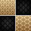 Seamless vintage backgrounds ornament wallpaper Royalty Free Stock Photography