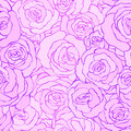 Seamless vintage floral pattern background with flowers of rose . vector illustration in pink colors. Design for fabrics Royalty Free Stock Photo