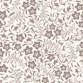 Seamless vintage floral pattern beige Stock Photo
