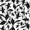 Seamless vintage floral pattern with orchid Royalty Free Stock Photography