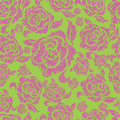 Seamless vintage floral pattern with roses Stock Photography