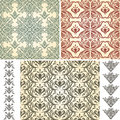 Seamless Vintage Floral Patterns Royalty Free Stock Image
