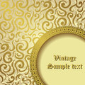 Seamless vintage floral wallpaper background retro frame Royalty Free Stock Photos