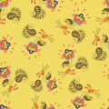 Seamless vintage flower classic wallpaper pattern background Royalty Free Stock Photos