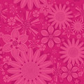 Seamless vintage flower pattern on background