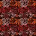 Seamless vintage flower rose pattern. Stock Photos