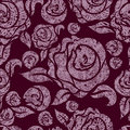 Seamless vintage grunge floral pattern Royalty Free Stock Photo